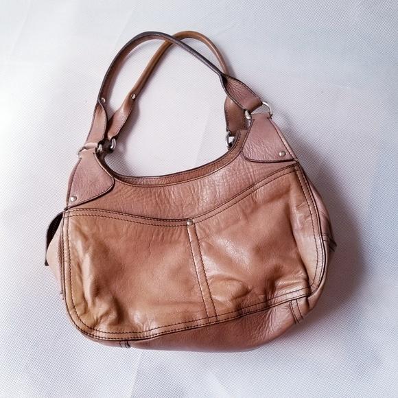 9c711fca05ac miu miu hobo shoulder bag tan beige leather brown.  M 5b10423336b9de2371ff7a8e
